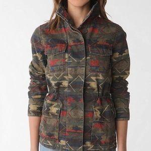 UO/Ecote Aztec print utility jacket